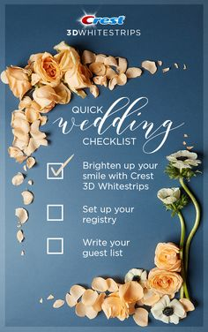 Crest knows that when you're planning your special day, your smile should be at the top of your list! Tap this Pin to learn more about achieving a beautiful wedding smile with Crest Whitestrips. Crest Whitening, Teeth Whitening Diy, Whitening Kit, Cute Wedding Ideas, Wedding Trends, Italian Wedding Cookies, Dream Wedding, Wedding Day, Wedding Reception