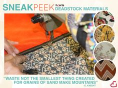 #Deadstock materials that will be used in our handbags! Launching this fall!