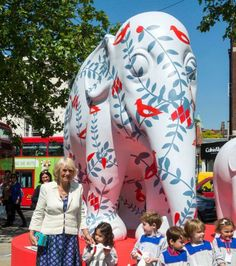 The giant elephant was dedicated to Mark Shand, who founded the charity Elephant Family.