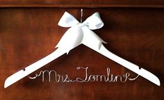 Custom Listing for mhightower657 -- Personalized Mother of Bride & Groom Hangers via Etsy
