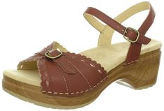 Exceptional support & feminine style combine in Sanita Women's Dawn Platform Clogs. You'll love the soft, supple leather, scalloped edging & lacy cutouts. Available in Black and Brown. Clog Sandals, Wedge Sandals, Wedge Shoes, Top Shoes, Side Zip Boots, Brown Sandals, Western Boots, Black And Brown, Clogs