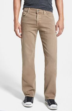 7 For All Mankind® 'Slimmy - Luxe Performance' Slim Fit Jeans (Sand)