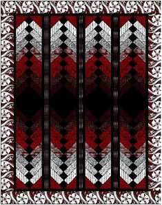 French Braid quilt in red, black and white See her French Braid Quilt board for lots of ideas.