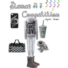 """Dance Competition          """" Signed : Harper """"      Liked on Polyvore by teenagedream3435"""