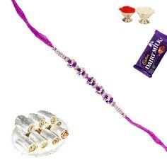 Anjir roll sweet with fancy bead #rakhi and shagun send online from #craftshopsindia