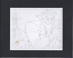 Batman The Animated Series Animation Joker Production Drawing Warner Bro jk by CharlesScottGallery on Etsy