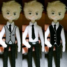Amigurumi boy dolls by Yulia, happy dollmaker @mint.bunny. (Inspiration).
