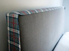 Whether you want to hide a dated headboard or just freshen up your look for the season, this fitted headboard slipcover transforms your bedroom without the commitment and cost. Slipcovered Headboard, Linen Headboard, Diy Headboards, Linen Bedding, Slipcovers, Headboard Ideas, Bed Linen, Headboard Cover, How To Make Headboard