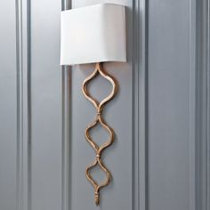 Meandering Gold Leaf Wall Sconce