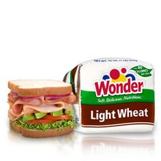 Wonder® Light Wheat bread-   Each satisfying slice has only 40 calories and nine grams of carbohydrates - with the taste and nutrition you want when you're eating lighter.
