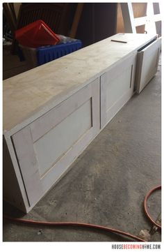 DIY twin bed with drawers. Diagram, photos, materials list and instructions for putting together the DIY twin bed. Bed Storage, Storage Drawers, Twin Bed With Drawers, Twin Captains Bed, Building Drawers, Diy Bed, Kids Bedroom, Bedroom Ideas, Boy Room