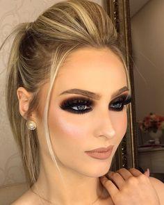 New Ideas Wedding Makeup Products Highlights in 2019 Dark Eye Makeup, Glam Makeup Look, Make Up Looks, Contour Makeup, Eyeshadow Makeup, Makeup Eyes, Beauty Make-up, Hair Beauty, Bridal Makeup