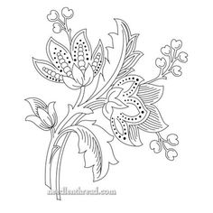 Embroidery Patterns Flowers toward Embroidery Stitches Types plus Hand Embroidery Designs Pillow Covers both Embroidery Patterns For Sale Bordado Jacobean, Floral Embroidery Patterns, Crewel Embroidery Kits, Learn Embroidery, Hand Embroidery Designs, Beaded Embroidery, Embroidery Thread, Towel Embroidery, Embroidery Tattoo