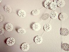 Wedding Garland - Vintage Garland - Wedding Decoration - White Paper Flower Garland. $17.50, via Etsy.