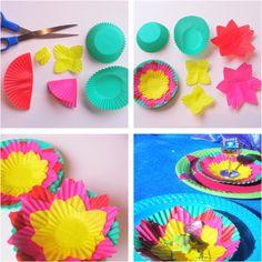 cupcake patty pan lotus flower how to