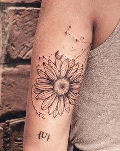 Pin by Marry-Design tattos on Sunflower Tattoo Tattoo Femeninos, Tattoo Band, Sun Tattoos, Body Art Tattoos, Sleeve Tattoos, Tatoos, Piercing Tattoo, Piercings, Arm Band Tattoo For Women
