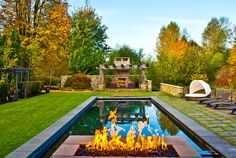 The Earth elements in perfect harmony. Have you ever seen a pool and fireplace quite like this one?  Sammamish, WA Coldwell Banker BAIN