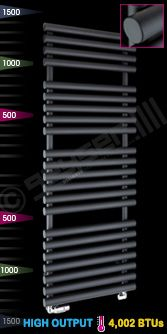 """Cirtowelo Nero"" Black Heated Towel Rail"