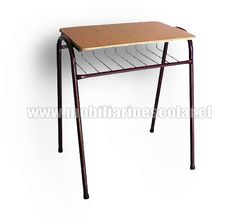 Pupitre unipersonal standard N1 pintado - Pupitres Escolares - Muebles Escolares - Mobiliario Escolar