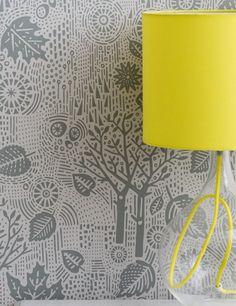 Autumn Wallpaper in Soft Grey