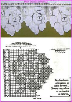 Albero del Crochet - MyKingList.com Crochet Diy, Crochet Lace Edging, Crochet Motifs, Crochet Borders, Crochet Squares, Crochet Doilies, Crochet Stitches, Crochet Patterns, Crochet Bedspread Pattern