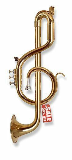 Twister Treble Clef Trumpet, it's not playable but it sure is interesting.