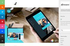 derry birkett website portfolio blog layout