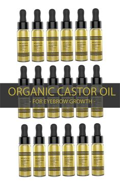 Want thicker fuller brows? Organic Castor oil is the product that can help you grow out your eyebrows fast.