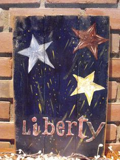 Liberty in Red White and Blue a primitive by sarahbellasprimitive, $15.00
