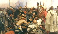 Ilya Repin_Cossacks 1880-91 - When I was a little kid I looked at a Repin book we had and will always remember this painting as one that fascinated me.