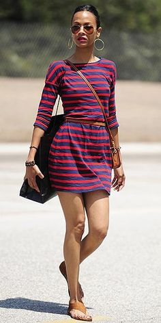loving this easy t-shirt dress. and loving that it's affordable (from express) even more.