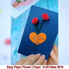 Easy Paper Crafts for Kids and Adults Paper Flowers Craft, Paper Crafts Origami, Paper Crafts For Kids, Origami Easy, Flower Crafts, Diy Paper, Paper Crafting, Flower Paper, Origami Flowers