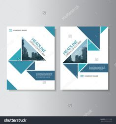 Blue triangle Vector annual report Leaflet Brochure Flyer template design, book cover layout design, Abstract blue presentation