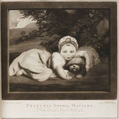 """Creator: """"Painted by Sir Joshua Reynolds, engraved by Thomas Watson"""" Title: Princess Sophia Mathilda Description: """"Mezzotint : 32.5 x 32.7 cm (sheet), mounted"""" In: Folio 33 30 copy 11 """"in A Description of the Villa of Horace Walpole, 1784 (Extra-illustrated, owned by Richard Bull)"""" Strawberry Hill Press  Image ID: lwlpr15480"""