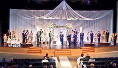 sanctuary auditorium stage wedding designs - Google Search