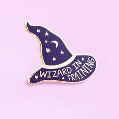 Wizard in Training Pin - cute enamel pin, hat badge, wizard pin, Harry Potter pin Narnia, Ghibli, Haley Lu Richardson, Harry Potter Pin, The Adventure Zone, Kawaii, Dnd Characters, Cute Pins, Pin And Patches
