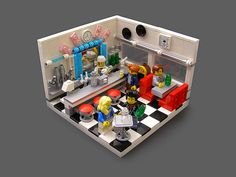 Great way to show off furniture & cool fixtures.  Better option for my sweet shop? 1950's Soda Shop by Legohaulic, via Flickr