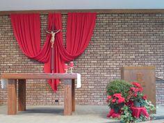 Holy Spirit Catholic Church Uniontown, Ohio decorated for Pentecost Sunday 2015.