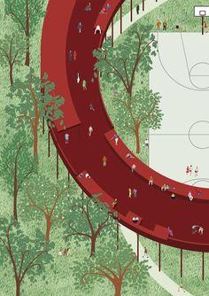 Viar Estudio · Qianhai Monument Landscape Island Shenzen / China · Divisare #LandscapeDrawing