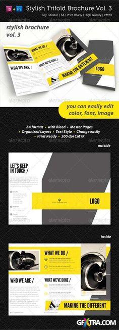 GraphicRiver: Stylish Trifold Brochure Vol. 3