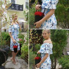 Для девушек которые очень любят цветы, но не любят когда они вянут. Сумка с цветами которые не завянут никогда!  Цена 3400 руб.