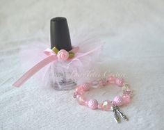 Ballerina Party Favor - Ballerina Nail Polish Tutu & Ballet Bracelet -  Ballet Favor - Found on Etsy at FairyTotes Couture