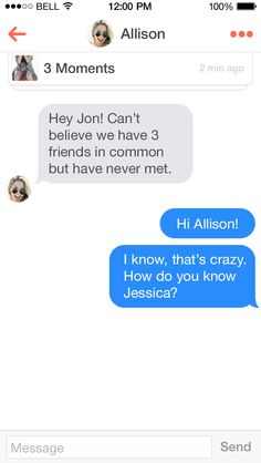 Tinder is a way to form a personal relationship with those you may have not had the chance to otherwise. By viewing your mutual friends with another user, one can determine compatibility beyond appearances.