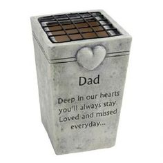 In Loving Memory Grave Flower Vase Holders / Pot - Graveside Memorial DAD Dad Funeral Flowers, Grave Flowers, Cemetery Flowers, In Memory Of Dad, In Loving Memory, Flower Vases, Flower Pots, Graveside Decorations, Cemetary Decorations