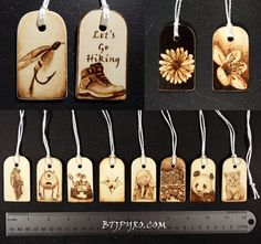 Miniature hand made woodburnings Made to order by BTJPyro on Etsy, $12.50