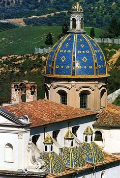 "Church in Calabria, Italy. Calabria is the ""toe"" of Italy's boot, the southernmost part of the peninsula. Greek-speaking until relatively recently, it still maintains much of its Byzantine heritage."