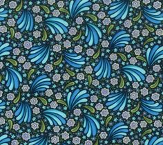 Jessica II ...Flower burst in BLUE  by the yard by MyHeartandSew
