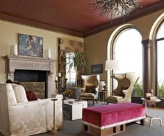 Get the Look: Ornate Mantels   Traditional Home Looks like imprinted leather.