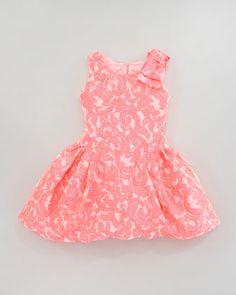 Brocade Tulip-Hem Dress, Sizes 8-10 by Zoe at Neiman Marcus.
