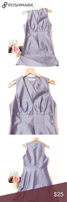 Tahari Grey Silk Dress Gently used! Tahari Dresses